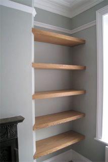 bare bones of a book shelf
