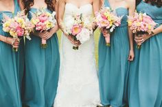Beautiful blue bridesmaids dresses. #LVWGS #bridesmaids