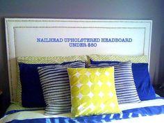 Nailhead Upholstered Headboard DIY - Chaotically Creative