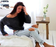 #Loose #Short #Sweater #Oversized #Sweater #Off #Shoulder #Sweater