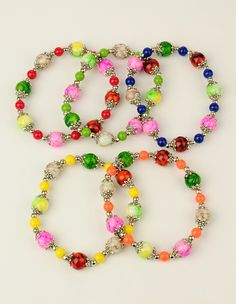 PandaHall Jewelry—Baking Painted Glass Stretchy Bracelets with Colorful Spray Painted Glass Beads | PandaHall Beads Jewelry Blog