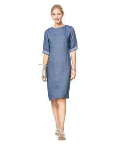 Burda Style Pattern Misses' Feminine Dresses Burda Sewing Patterns, Clothing Patterns, Dress Patterns, Sewing Ideas, Sewing Projects, Modest Outfits, Casual Dresses, Dresses For Work, Floral Dresses