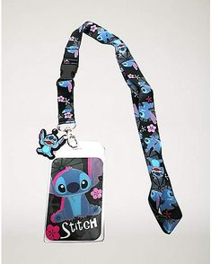 Stitch Lanyard - Rock your ID with the cutest alien in the galaxy with this officially licensed lanyard! Featuring Stitch's adorable face and pink Hawaiian flowers, this lanyard is a must-have for any Lilo and Stitch fan! Lilo Stitch, Lelo And Stitch, Cute Stitch, Birthday Gifts For Teens, Teen Birthday, Disney Lanyard, Rubber Band Bracelet, Diy Bracelet, Cute Disney Outfits