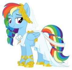 Rainbow Dash wedding dress, this needs to happen!!! With Soarin!!!!