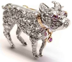 Dog brooch once owned by Grace Kelly