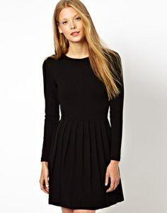 Ganni Miss Marple Dress with Pleated Skirt