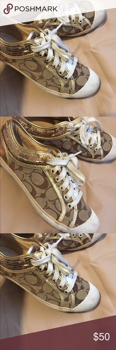 🌺🌸🌹Authentic Coach shoes size 7 1/2🌺🌸☘️ Good condition lightly worn please see pictures Coach Shoes Platforms