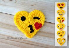 Crochet Emoji Valentines – Blowing a Kiss
