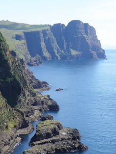 Cliffs of Suduroy - Faroe Islands - View towards Beinisvørð by Eileen Sandá