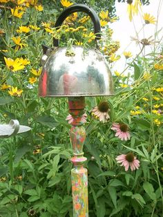 Vintage Silver Upcycled Tea Kettle Garden by PearlsVintageGoods, $25.00