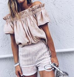 off shoulder ruffles
