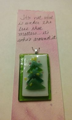 This fun pendant brings the charm of Christmas to life. Each unique pendant consists of hand cut glass that is layered and fired to create festive holiday jewelry. Holiday Jewelry, Christmas Tree, Christmas Ornaments, Holiday Festival, Cut Glass, Glass Jewelry, Charmed, Pendant, Create