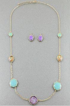 Show and Pastel Necklace Set #necklace #jewellery amusemeboutique.com