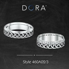 Matching ring sets for couples from Dora's Venetian Collection.  >> http://dorarings.com/stores/ #weedingrings #diamondring #fashionrings