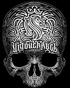 Stripped Skull - Art By OG ABEL http://www.creativeboysclub.com/ http://www.creativeboysclub.com/wall/creative