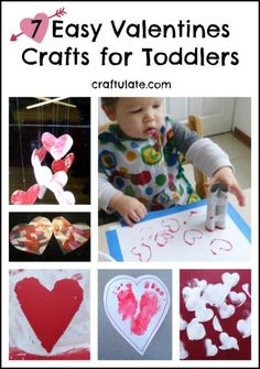 These Valentines crafts for toddlers are super easy and perfect for celebrating all things hearts and Valentines.