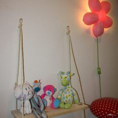 Hanging Shell, schommelplankje voor de kinderkamer @mddesigns.nl