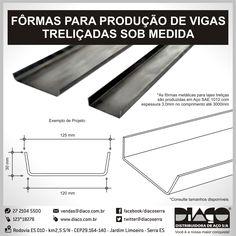 Forma para Viga Treliçada Diaço para Pré-moldado #diaco #serra #es