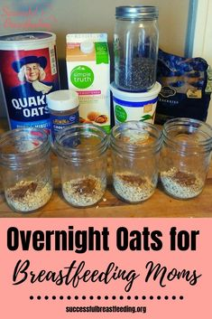 Learn how to make these easy and delicious overnight oats, perfect for breastfee. - Learn how to make these easy and delicious overnight oats, perfect for breastfeeding moms who need - Lactation Oatmeal Recipe, Lactation Smoothie, Lactation Recipes, Oatmeal Recipes, Foods For Lactation, Lactation Boosting Foods, Oatmeal Milk Recipe, Easy Lactation Cookies, Best Food For Breastfeeding