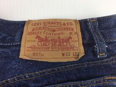 e88b8add Details about Vintage Levi's 501XX 33 x 32 Button Fly Blue Jeans USA Made  Denim Pants 501-0000