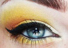 Orange and yellow eyeshadow :)