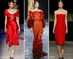 New York Fashion Week Fall 2016 Modetrends: Aurora Red