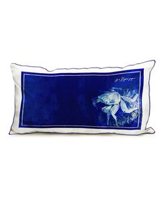 Another great find on #zulily! Inky Blue Sea Life Lumbar Pillow #zulilyfinds