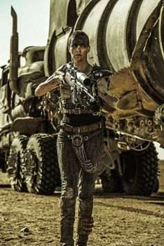 Charlize Theron as Imperator Furiosa in Mad Max: Fury Road directed by George Miller. Mad Max Fury Road, Charlize Theron, Art Pulp Fiction, Fiction Movies, Science Fiction, Skottie Young, Robert Mcginnis, Thundercats, Tank Girl