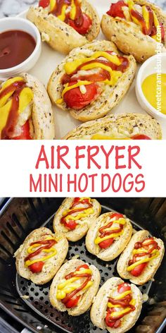 Air Fryer Mini Hot Dogs are a cute and fun party food. Everyone loves hot dogs and these game day appetizers are easy to make and fuss free! #easyrecipe #partyfood #arifryerrecipes @sweetcaramelsunday Quick Easy Meals, Easy Dinner Recipes, Delicious Recipes, Sunday Recipes, Easy Recipes, Delicious Dishes, Amazing Recipes, Lunch Recipes, Summer Recipes