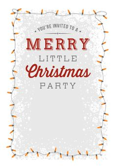A Merry Little Party   Free Printable Christmas Invitation Template |  Greetings Island  Free Xmas Invitations