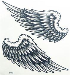 Angel Wings Body Art Waterproof Temporary Tattoo