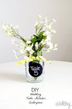 Wedding Table Number Alternative