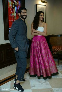 harshvardhan kapoor & saiyami kher in mirzya movie  press conference in delhi