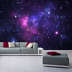 Galaxy Photo Wallpaper 366 x 254 CM-Space Stars Galaxy Universe deco.deals: Amazon.co.uk: Kitchen & Home