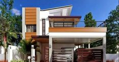 Two Story House Design, 2 Storey House Design, Duplex House Design, Small House Design, Cool House Designs, Modern House Design, Indian Home Design, Kerala House Design, Two Storey House Plans