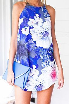 Flower Print Sleeveless Dress
