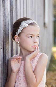 Diadema de diamantes de imitación, venda de la muchacha de flor, diadema…