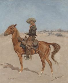 Sid Richardson Museum: The Puncher by Frederic Remington