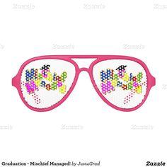 Graduation - Mischief Managed! Aviator Sunglasses #Just4grad #Graduationclass #Gravityx9
