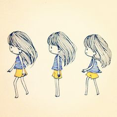 Circle walk #girl #mood #emotion #emoji #character #cartoon #draw #paint #sketch #walk #circle by P@L@LEE, via Flickr