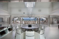 Welcome to Ideas of A round kitchen table and chair sets to add more homely feel article. In this post, you'll enjoy a picture of A round k. Kitchen Table Chairs, Kitchen Decor, Dining Table, Kitchen Tips, Kitchen Ideas, White Glossy Kitchen, Circular Table, Round Kitchen, New Kitchen Designs