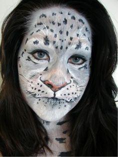 Snow Leopard Makeup  http://makinbacon.hubpages.com/hub/leopardmakeupahalloweentutorialgallerytips