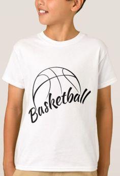 Basketball Stylized Design with Fun Font T-Shirt