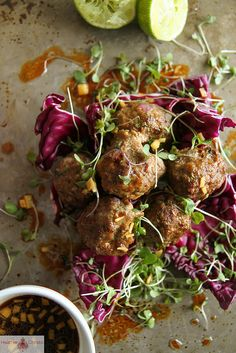 Asian Meatballs by @Heather Creswell Creswell Christo