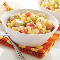 Italian-Style Mac & Cheese with Chicken Sausage (Tomatoes and basil add bursts of color and flavor to this rich and creamy pasta making this dish irresistible).