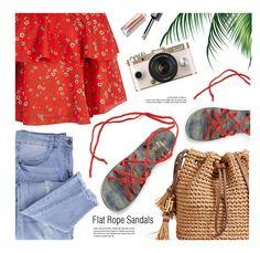 PLAKA-SANDALS.com by monmondefou on Polyvore featuring polyvore fashion style Alice + Olivia Essie clothing Summer sandals beach ropesandals plaka