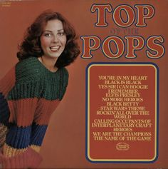 TOP OF THE POPS Top Of The Pops (1977 UK 12-track LP compilation, including TOTP renditions of We Are The Champions, No More Heroes, Rockin' All Over The World and The Name Of The Game,16