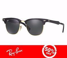 Óculos De Sol Clubmaster Alumínio Masculino - Feminino 3507 Óculos Ray Ban,  Oculos De Sol 16682f419b