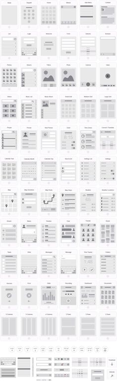 Mobile App Visual Flowchart Illustrator Template – UX Kits #ux #webdesign: