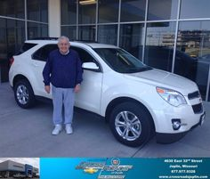 I had a very good experience working with Johnny Wilson and everyone here at Crossroads. They treated me very fairly and gave me a good price for my tradein. By far the best buying experience I've every had. I would definitely recommend anyone looking to buy a vehicle to come check Crossroads out. I'm very excited to get my new Equinox! - Johnny Lafalier, Wednesday, April 09, 2014 http://www.crossroadsjoplin.com/?utm_source=FlickR&utm_medium=DMaxxPhoto&utm_campaign=DeliveryMaxx